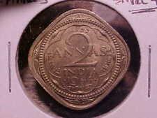 1944 Small 4's British India 2 Annas AU++