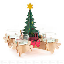 Bastelset Adventskranz mit Engel und Weihnachtsmann Erzgebirge