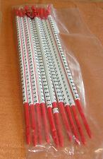 """10 Stäbe Kabelmarkierer rot Zahl """" 2 """" Markierungsringe zum Aufschnappen 3471"""