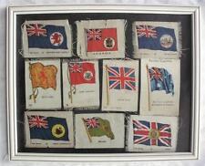 KENSITAS WIX BDV CIGARETTE CARD SILKS BRITISH EMPIRE FLAGS x10 VGC MOUNTED c1934
