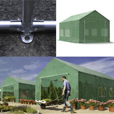 Gartenzelt Grün Foliengewächshaus Gewächshaus PE Tunnel 3x4 - 4x8m gestärkt