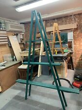 New Large Raw Vintage Wooden Ladder Shelf for home or Shop Display Book or Plant