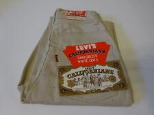 Vtg 60s 1960s CALIFORNIANS Lady LEVI'S 971B  Big-E White Pique Pants Jeans 22x29