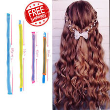 18Pcs 20/60cm Magic Hair Curlers Formers Curl Leverage Rollers Spiral Ringlets