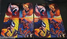 SPIDER-MAN 1995 Fleer Ultra LOT of  2  PROMO 4 Card Uncut PANELS Venom BLACK CAT