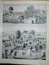 Antique 1875 Print Orange County NY Wisner Howell Weeks Residences