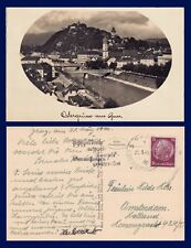 AUSTRIA OSTERGRUSSE AUS GRAZ REAL PHOTO POSTED 1940 TO AMSTERDAM