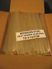 """Box of 170 Pieces of 12"""" Sections Heat Shrinking Tubing M23053-010C TZ-V12/TOP"""