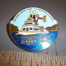 1988 Golden Days Fairbanks Alaska Collectors lapel pin, hard to find item