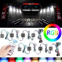8Pcs 48 LED Rock Lights Truck Bed Under Body LED Lighting RGB Control+IR Remote