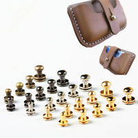 10 Sets Metal Alloy Rivets Studs DIY Crafts Leather Belt Head Rivet Spikes Decor