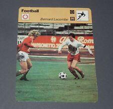 FOOTBALL 1977 OLYMPIQUE LYONNAIS LYON OL GERLAND GONES BERNARD LACOMBE