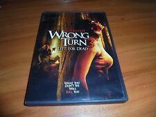 Wrong Turn 3: Left for Dead (DVD, Widescreen 2009) Tom Frederic Gil Kolirin Used