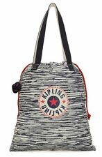 kipling New Hiphurray Small Tote Scribble Lines