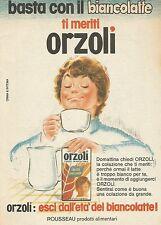 X7856 ORZOLI - Rosseau prodotti alimentari - Pubblicità 1977 - Vintage Advertis.