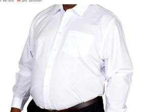 Large Mens Long Sleeve  Black white Shirt 2XL 3XL 4XL 5XL 6XL 7XL-8XL
