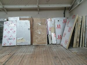 Kingspan , Celotex insulation around 12 x 10cm and 10 x 15cm