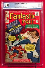 FANTASTIC FOUR #22 (Marvel) PGX 8.0 VF Very Fine MOLE MAN!!! +CGC!  UNPRESSED!!