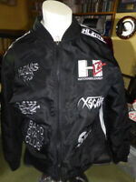 HLZBLZ Women's Rude Girl Bomber Jacket Size S Black + white print Bad Gyalz Club
