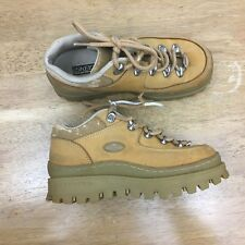 Skechers Jammers Women's Size 6.5 Tan Leather Hiking Work Boots Shoes #SB8