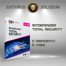 Bitdefender Total Security 2020 5 Dispositivi 5 Anni Account Centrale + VPN