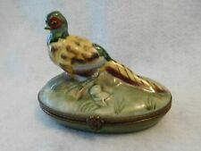 Vintage Limoges Trinket Box Pheasant France
