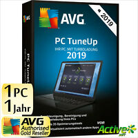AVG PC TuneUp 2020 1 PC Vollversion 1 Jahr TuneUp Utilities DE Tune Up 2019 NEU