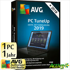 AVG PC TuneUp 2019 1 PC Vollversion 1 Jahr TuneUp Utilities DE Tune Up 2018 NEU