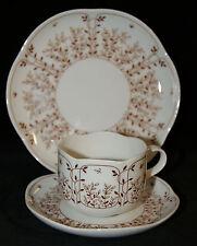 Tirschenreuth Hutschenreuther Porzellan Fleur Blätterzauber braun Tee Gedeck