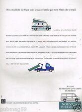 Publicité advertising 1990 Camion camionette Peugeot J5 Fourgon utilitaire