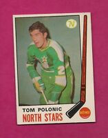 1969-70 OPC # 199 NORTH STARS TOM POLONIC ROOKIE EX-MT CARD (INV# 8890)