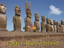 "*Postcard-""Easter Bunny Island"" -Best known for Enormous Statues (Chili) (T4)"