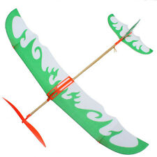 DIY Kids Early Toy Rubber Band Powered Glider Plane Assemble Aircraft CP