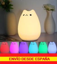 Lámpara decorativo nocturno Gato multicolor Portátil recargable Regalo perfecto