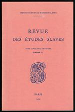 Munich 1938. Mythes et réalités. Revue des Etudes Slaves, 1979.