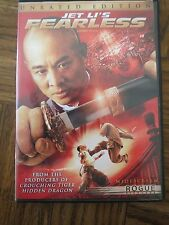 Jet Li's Fearless (DVD - 2006) Unrated Edition -Action Adventure Movie Thriller