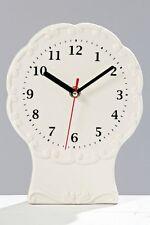 Porzellanuhr, Küchenuhr, Standuhr mit Sekundenzeiger - 20 cm