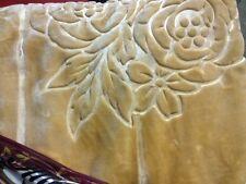 Original Solaron Korean Blanket throw mink Plush king size Light Brown/beige new