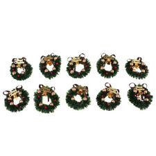 1/12 Dollhouse Miniature Christmas Wreath Garland Ornament Home Decoration