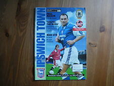 Football Programmes League Cup Ipswich V Man United 1997/98