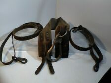 Vintage 1959 Lineman Pole Tree Climbing Belt Leather Tool Harness Electrical