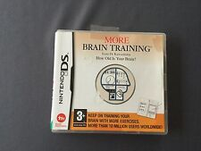 NINTENDO DS MORE BRAIN TRAINING english version + box + instruction booklet
