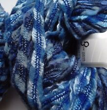 2 x 50g Textured Yarn, Blue Multicolour. Knit/Crochet/Weave/Crafts