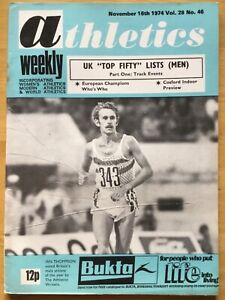 ATHLETICS WEEKLY - 16 NOVEMBER 1974 -NCOSFORD INDOOR PREVIEW - IAN THOMPSON