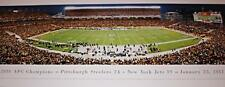 2010 AFC Champions Pittsburgh Steelers vs. Jets January 23, 2011 Panoramic Photo