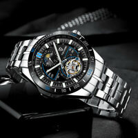 TEVISE Business Men Watch Mechanical Automatic Stainless Steel Strap     T  i