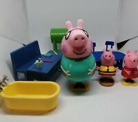 Peppa Pig Figures Toys Peppa Bundle Joblot Desk  Furniture RD