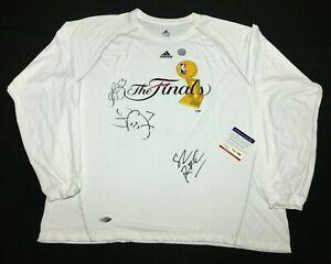 Trevor Ariza Lamar Odom Signed NBA 'The Finals' T-Shirt Los Angeles Lakers PSA