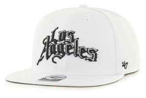 LOS ANGELES CLIPPERS NBA ALL WHITE SNAPBACK CITY EDITION CAP HAT NEW! '47 BRAND