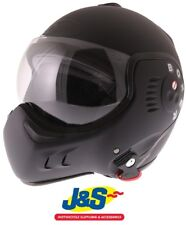 Techo Boxer V8 Jet casco Moto Motocicleta Jet Doble Cara Abierta Negro Mate J&s